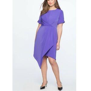 NEW Eloquii Draped Front Dress